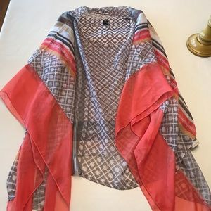 Style & Co Sz 3X tank and sheer poncho set